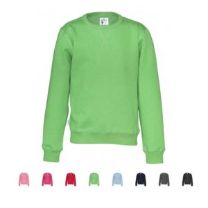 Sweatshirt junior økologisk fairtrade i 8 farger